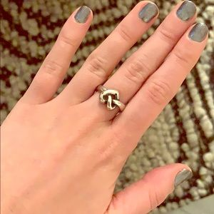 Silver James Avery pretzel knot ring